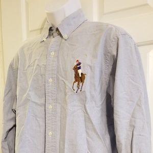 Ralph Lauren Big Pony Classic Fit LS Shirt Sz Lrg